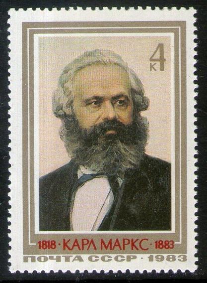 Rusia Sello Mint 100° Aniver. Muerte De Karl Marx Año 1983