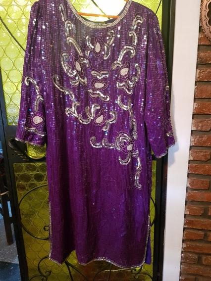 Vendo Vestido De La Fiesta Importado Lentejuelas Muy Fino