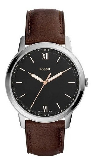 Relógio Fossil Masculino Couro Analógico Fs5464/0mn