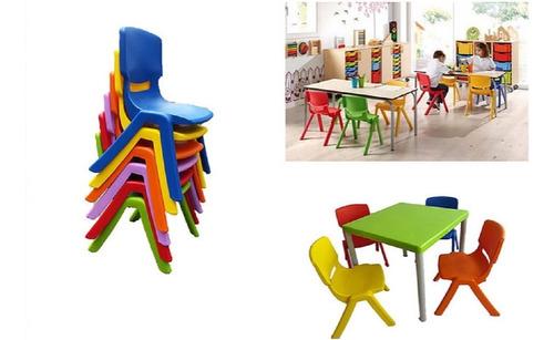 Imagen 1 de 8 de Silla Infantil En Varios Colores