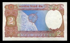 Cédula Da Índia - Flor De Estampa- Remessa Grátis - L.385