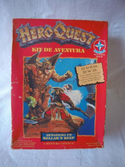 Jogo De Tabuleiro, Raro Kit Aventura Hero Quest Da Estrela.