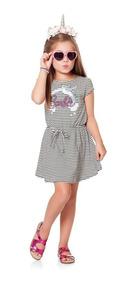 Roupa Infantil Vestido Barbie Unicornio 4, 6, 8, 10 Anos