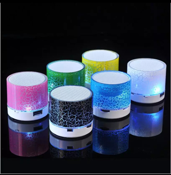 Cornetas Mini Speaker Altavoz Inalámbricas Led Aux Bluetooth