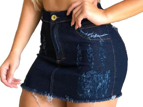 Kit 7 Saias Jeans Hot Pants Destroyed Atacado
