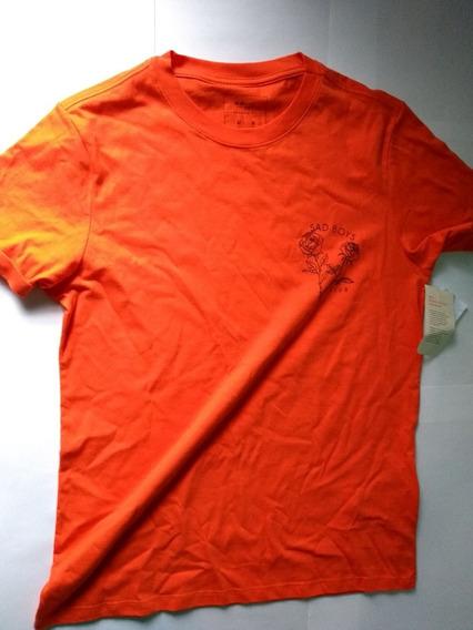Camisa Cor Laranja Masculina M