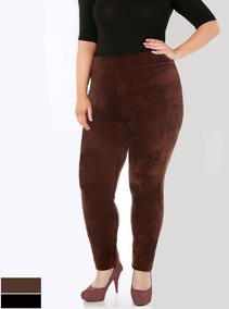 Legging De Veludo Plus Size Roupas Femininas Envio Rápido