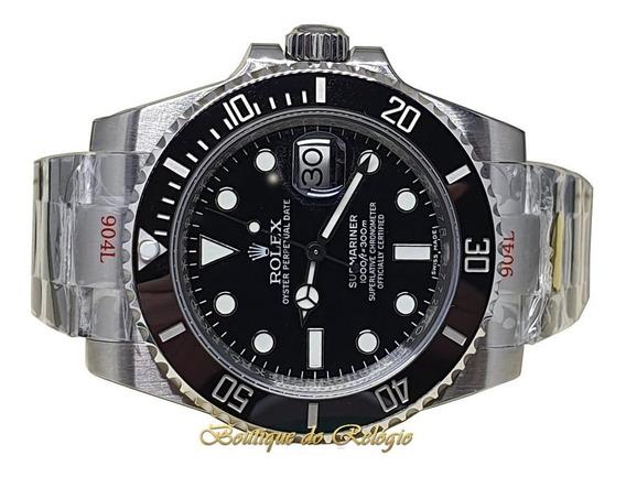 Relógio Modelo Eta Submariner Preto Noob V10 Sa3135 Aço 904l