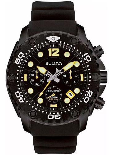 Relógio Bulova Mergulho 300m Original Wb31845p Nfe Garantia