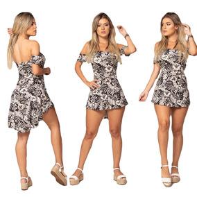 489701d07 Vestido Curtinho Bata Estampado Camiseta Feminina Com Shorts