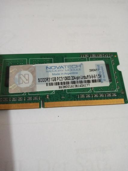 Memoria Ddr3 1gb Pc3 10600 Novatech 204 Pin