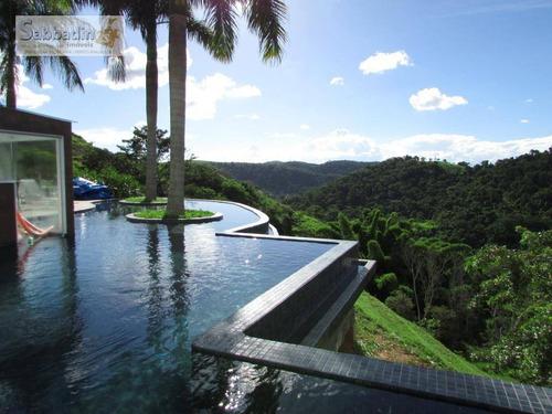 Excelente Casa Com 4 Dormitórios, Espaço Gourmet Com Linda Vista Eterna Para O Verde À Venda Por R$ 2.200.000 - Secretário - Petrópolis/rj - Ca0306