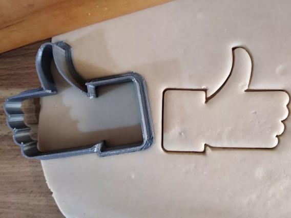 Cortador De Galletas Like, 7cm, Facebook, Impresión 3d