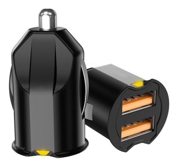 Carregador Adaptador Usb Para Recarga De Bateria / Tomada Conector Cinzeiro Do Painel Ou Console Do Veiculo