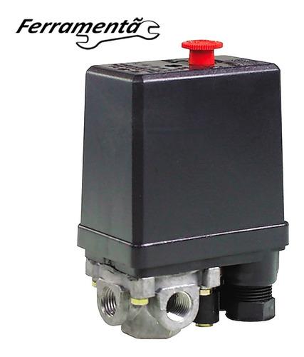 Imagem 1 de 8 de Pressostato Automatico Compressor Ar 90/125psi 4 Vias