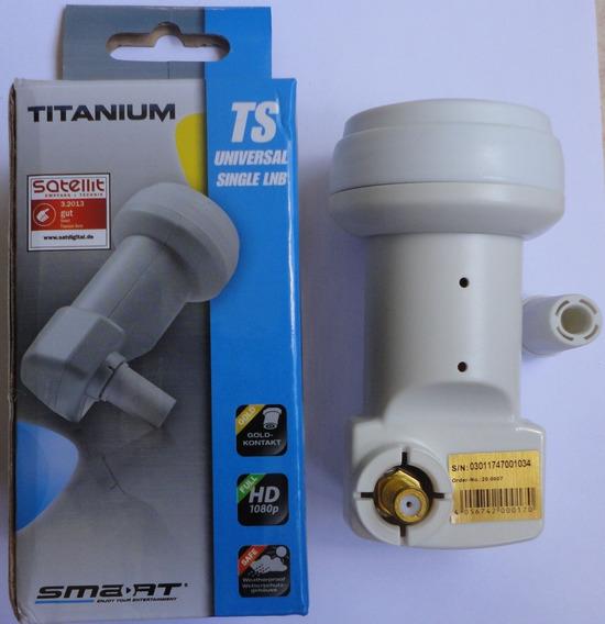 Lnb Smart Titanium Single Universal Ku (0,1db) Conector