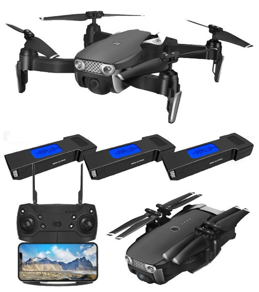 Drone E511s C/ Câmera Wifi Full Hd 1080p + 3 Baterias, Mavic