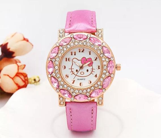 Relógio Hello Kitty Menina Infantil Criança Qualidade Oferta