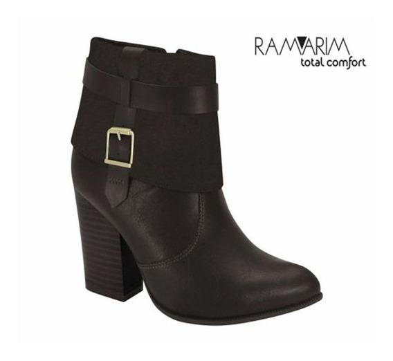 Bota Ramarim Ankle Boot Preto - 1816107