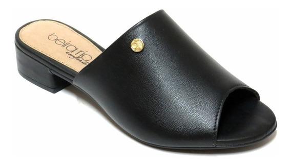 Zapatos Zuecos Mujer Beira Rio Boca De Pez Taco 8374116