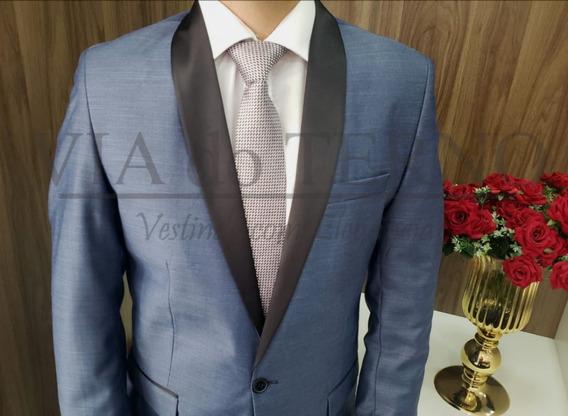 Terno Smoking Azul Via Do Terno Lançamento Casamentos Noivos