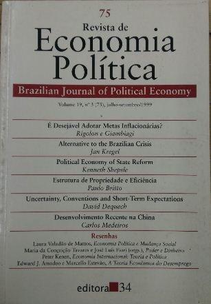 Revista De Economia Política Vol. 19 Nº3 José Roberto Mendo
