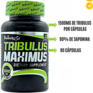 Tribulus Terrestris 1500mg 90 Cáps 90% Saponina