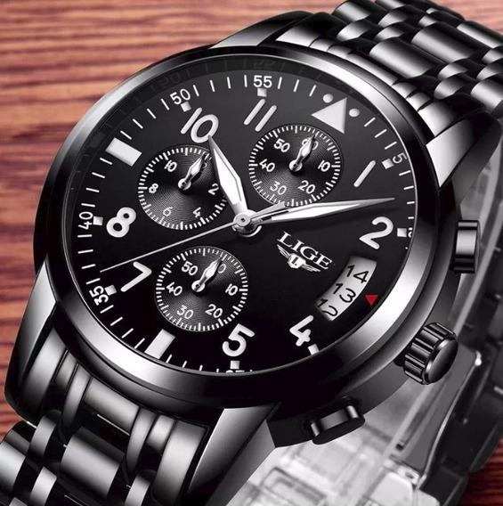 Relógio De Luxo Masculino Lige 9825