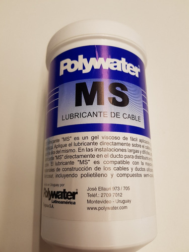 Lubricante De Cable Polywater 800ml