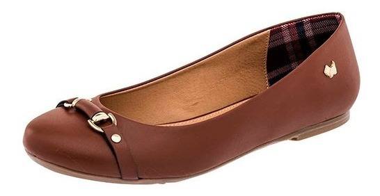 Zapatos Flats Para Dama Ferrioni Q61-006-02 Cf Café Poi19