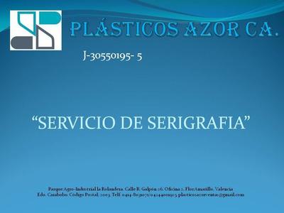 Servicio De Serigrafia En Envases Plásticos