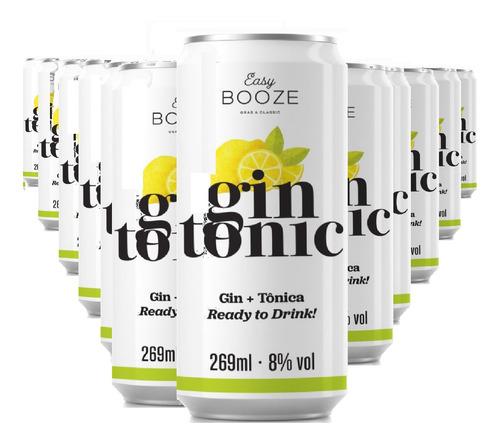 Imagem 1 de 1 de Easy Booze Lata Gin+tônica 269ml (12 Unidades)