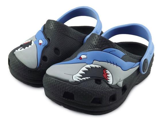 Babuche Infantil Preto Tubarão