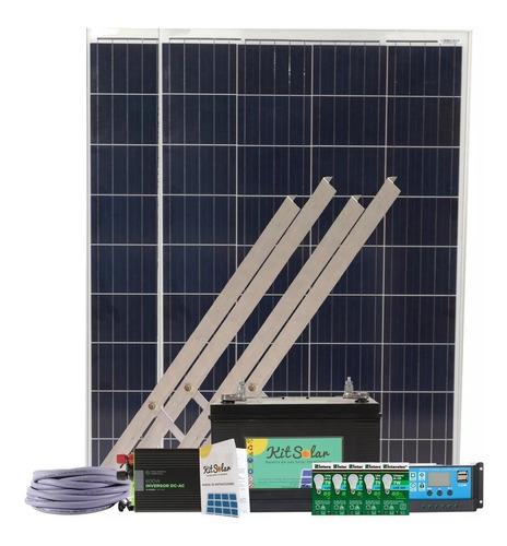 Kit Solar Con 2 Paneles De 100w Bateria 65a Usb Y 220 K13
