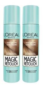 Kit 2 Retoque De Raiz Spray Magic Retouch Louro Escuro