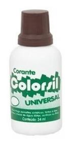 Corante Universal Colorsil 34ml Marrom