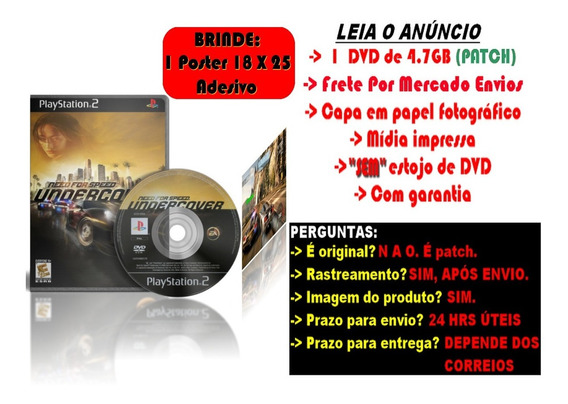 Need For Speed Undercover Para Ps2 + Brinde