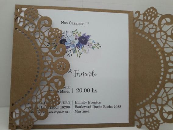 Tarjetas Casamiento Rusticas Souvenirs Para Casamiento En