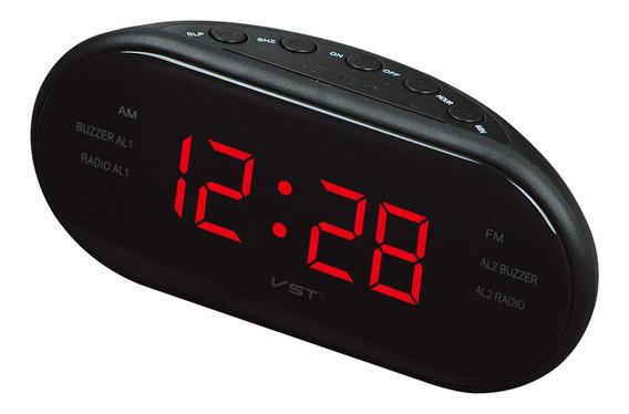Am / Fm Digital Dual Alarme Relógio Rádio +1.2-inch Grande