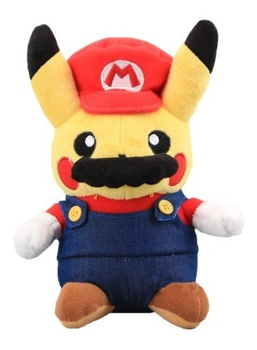 Nuevo Peluche Pikachu Super Mario Pokemon Go Pikamario Gamer