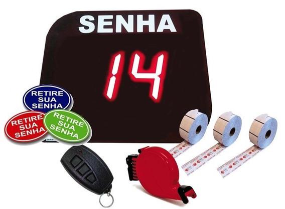 Painel Senhas + Dispenser + 03 Bobinas + Placa Retire Sua Se
