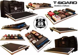 Pedal Board T-board 60x30cm (mxr Boss Ibanez Guitarra Bajo)