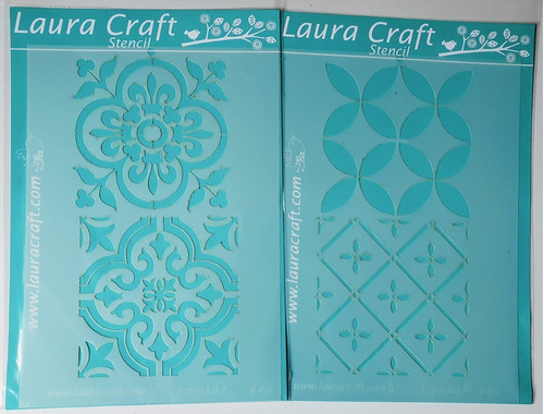 Stenciles Laura Craft Set Azulejos Calcáreos Modelo 2
