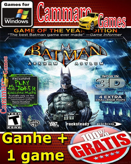 Batman: Arkham Asylum - Jogo Do Ano + 3 Game Grátis