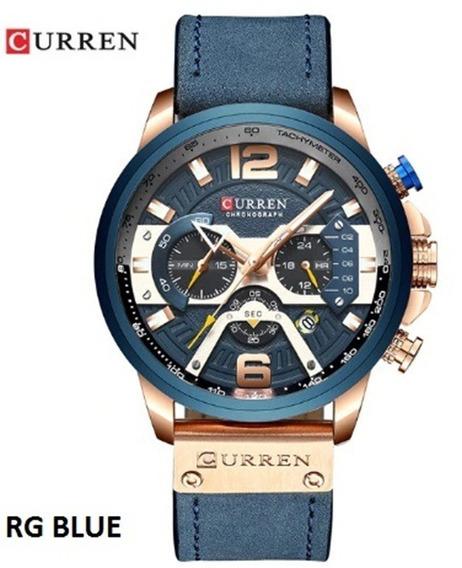 Relógio De Pulso Masculino Original Curren 8329 + Caixa