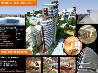Apartamento 1 Habitación Espectacular Torre En Bella Vista