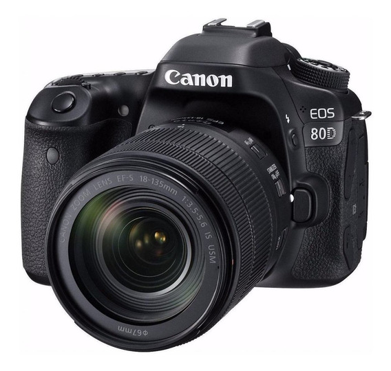 Canon EOS 80D 18-135mm IS USM Kit DSLR color negro