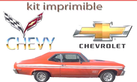 Kit Imprimible Chevrolet Chevy Candybar Golosinas Cumple