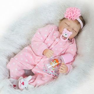 Bebé Reborn Muñeca Simulado 55cm Silicona