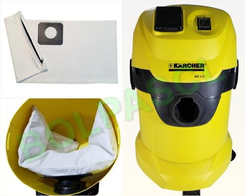 3 Bolsas Reusables De Aspiradoras Karcher Wd3 Envío Incluido
